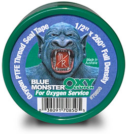 OXY-CLUTCH Green Oxygen PTFE Thread Sealing Tape