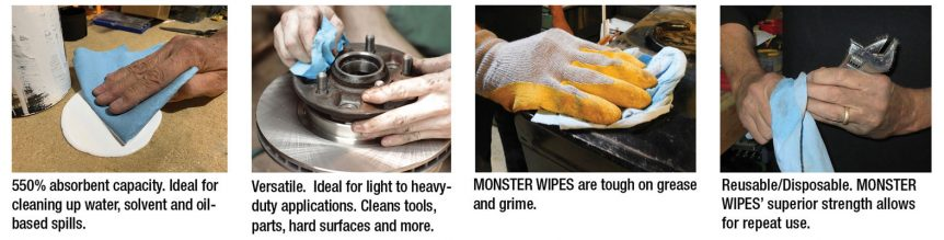 Monster Wipes in use